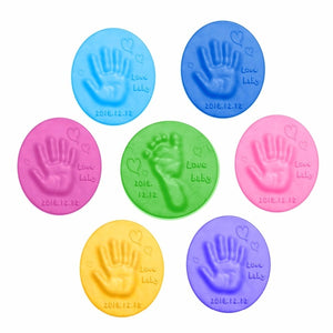 2 Bags Baby Hand Foot Inkpad Ultra Light Stereo Baby Care Air Drying Soft Clay