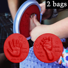 Load image into Gallery viewer, 2 Bags Baby Hand Foot Inkpad Ultra Light Stereo Baby Care Air Drying Soft Clay