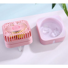 Load image into Gallery viewer, Portable Mini Usb Rechargeable Humidifying Spray Fan for Small Desks and Household Fans