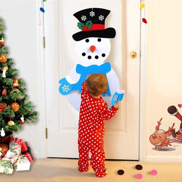 Christmas DIY Felt Snowman Set Ornaments Christmas Wall Hanging Decorations