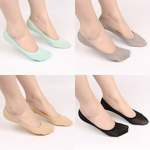 10Pairs/5Pairs Women Men Cotton No Show Socks Non Slip Thin Low Cut Casual Socks