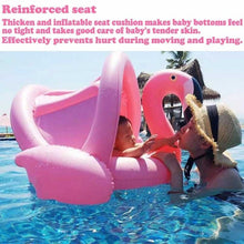 Load image into Gallery viewer, Flamingo Baby Float with Canopy Swimming Floats for Kids Pool Party Supplies Swimming Ring Baby Accessories