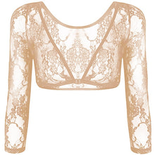 Load image into Gallery viewer, Seamless Arm Shaper Sleevey Wonders Women's Lace V-neck Perspective Cardigan