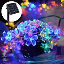 Load image into Gallery viewer, 7M Solar LED String Lights Outdoor Waterproof Sakura Flower Fairy Light