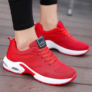 Women Running Shoes Mesh Breathable Air Cushion Tennis Shoes Outdoor Sports Sneakers