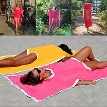 Load image into Gallery viewer, Wearable Beach Towel Blanket Bikini Polyester Outdoor Travel Blanket Mat