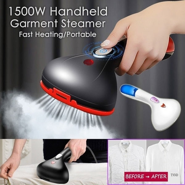 1500W Garment Steamer Fast Heating Handheld Portable Clothes Steamer