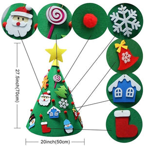 3D DIY Toddler Christmas Tree New Year Children Gifts Toy Artificial Tree Xmas Home Hanging Ornaments
