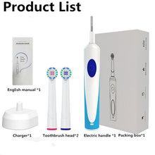 Load image into Gallery viewer, 3D Rechargeable Cleaning Rotating Toothbrush with 2 Brush Head