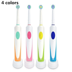 3D Rechargeable Cleaning Rotating Toothbrush with 2 Brush Head