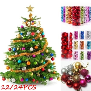 12/24PCS Christmas Tree Hanging Ball Decoration Christmas Xmas Ball