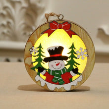 Load image into Gallery viewer, Christmas Decoration Wooden Luminous Pendant