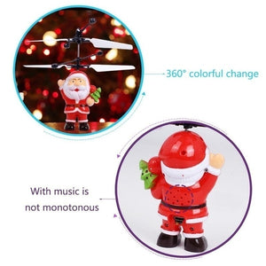 Electric RC Flying Santa Claus Infrared Induction Aircraft Helicopter