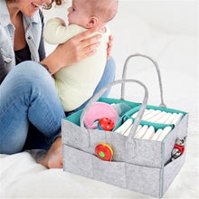 Load image into Gallery viewer, Protable Folding Felt Storage Bag Kids Baby Clothes Toys Diaper Nappy Organizer