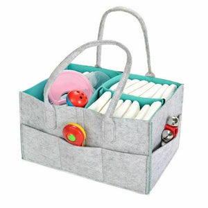 Protable Folding Felt Storage Bag Kids Baby Clothes Toys Diaper Nappy Organizer