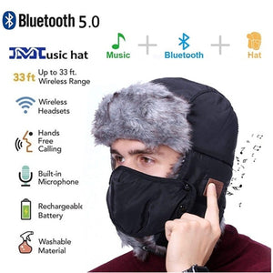 Wireless Bluetooth 5.0 Smart Snow Hat Headband Headset Bluetooth Earphone Hats