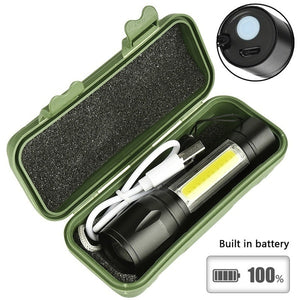 Rechargeable LED MINI Flashlight Zoom Waterproof Aluminum 3 Modes Torch