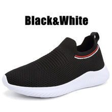 Load image into Gallery viewer, Solid Color Lightweight Breathable Flat Slip-on Running Shoes
