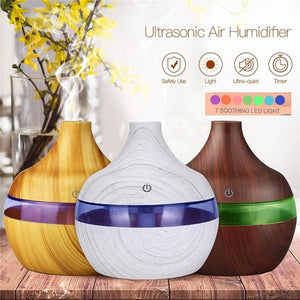 300ml USB Electric Aroma Air Diffuser Wood Ultrasonic Air humidifier Oil Diffuser