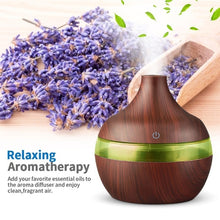 Load image into Gallery viewer, 300ml USB Electric Aroma Air Diffuser Wood Ultrasonic Air humidifier Oil Diffuser