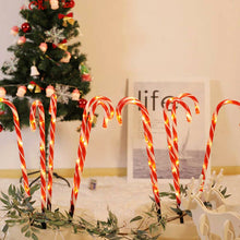 Load image into Gallery viewer, 6 Pcs Christmas Light Pathway Candy Cane Walkway Light Usb Powered Street Lamp
