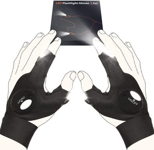 LED Flashlight Gloves Men's Stretchy Comfortable LED Gloves