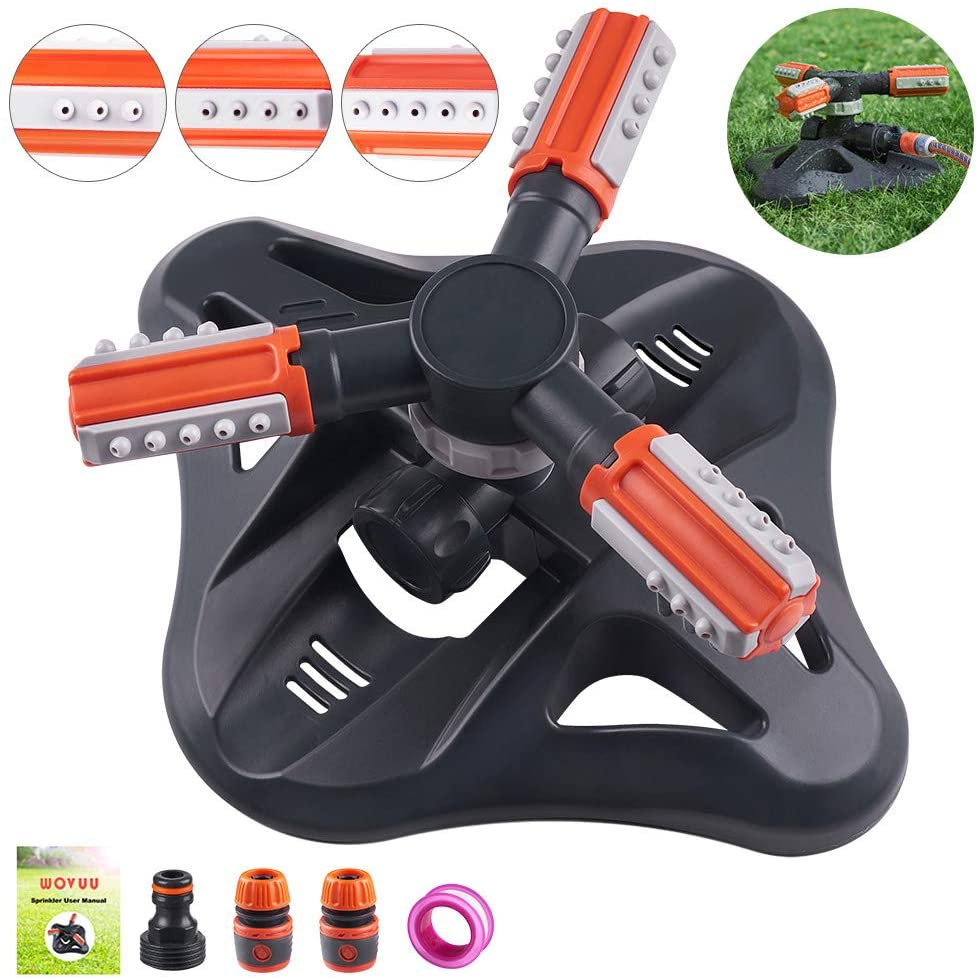 Upgrade Lawn Sprinkler Automatic 360 Degree Rotating Irrigation Sprinkler System