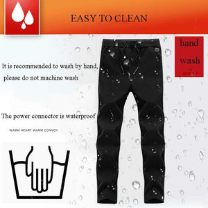 Smart Heating Electric Pants Winter Outdoor USB Charging Thermostat Warm Trousers