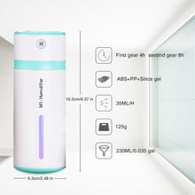Load image into Gallery viewer, Mini Personal USB Portable 240ml 7 Colors Light Changing Ultrasonic Humidifiers