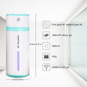 Mini Personal USB Portable 240ml 7 Colors Light Changing Ultrasonic Humidifiers