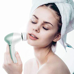 Electric Facial Cleansing Brush with 11 Brush Heads,Flexible Waterproof Powered Brush for Deep Cleaning
