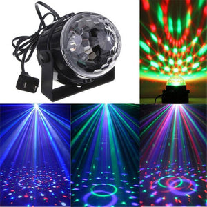 7 Color Strobe Led Disco Ball 3W Sound Control Laser Projector RGB Stage Light