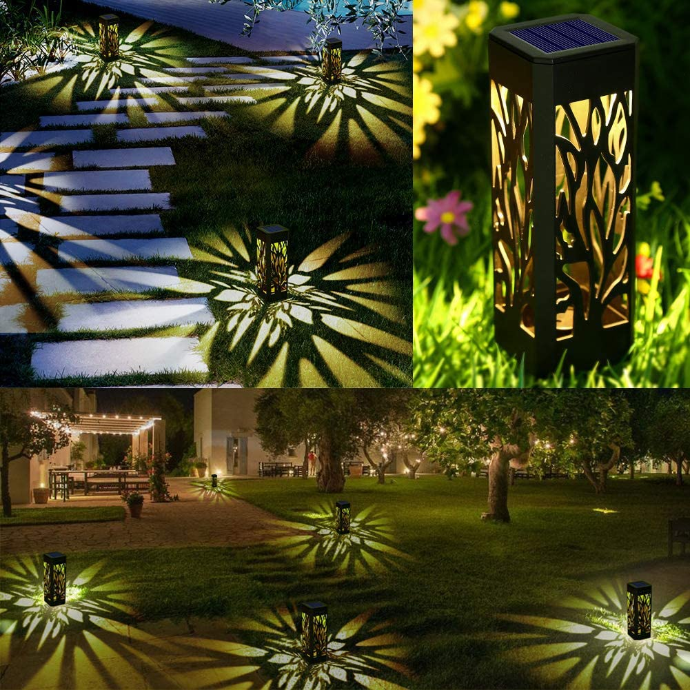 Waterproof Garden Lights Solar Powered with Warm White LED Lights