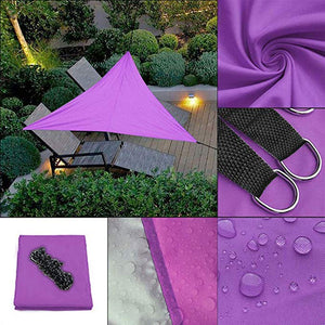 Outdoor Waterproof Triangular UV Sun Shade Sail