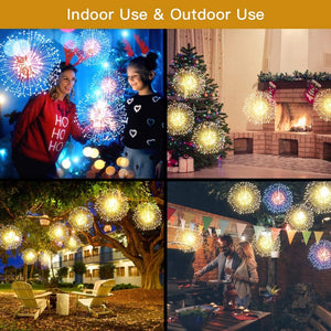 Fairy Firework String Lights 198 LED 8 Modes Dimmable String Fairy Lights with Remote Control