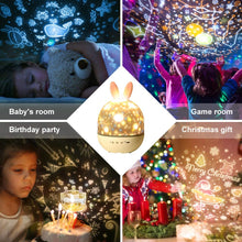 Load image into Gallery viewer, Star Projector Night Light Lamp 2 in 1 Kids Night Light Projector with Blutooth Music Speaker