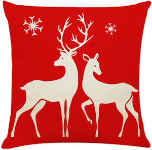 "4Pcs 18""x18"" Throw Pillow Covers Christmas Decorative Couch Pillow Cases"