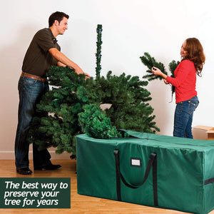 Christmas Tree Storage Bag (Canvas)  Xmas Tree Bag fits 8 FT Artificial dissembled Tree