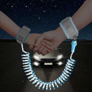 Baby Anti Lost Wristband Safety Reflective Leash with Induction Lock