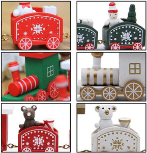 Little Train Wooden Christmas Decorations