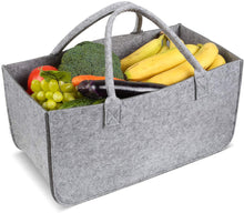 Load image into Gallery viewer, Firewood Basket Storage Felt Bag Wood Log Carrier Shopping Bag Magazine Rack Basket with Handle
