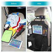"Load image into Gallery viewer, Car Organisers Waterproof Seat Back Protectors with 10"" iPad Tablet Touch Screen Holder"