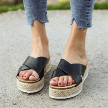 Load image into Gallery viewer, Platform Colour Strap Sandals