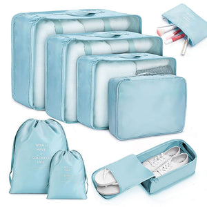8pcs Travel Home Clothes Quilt Blanket Storage Bag Set