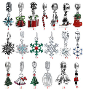 Christmas Advent Countdown Calendar Year DIY Bracelet Earrings Jewelry Set