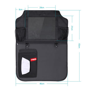 "Car Organisers Waterproof Seat Back Protectors with 10"" iPad Tablet Touch Screen Holder"
