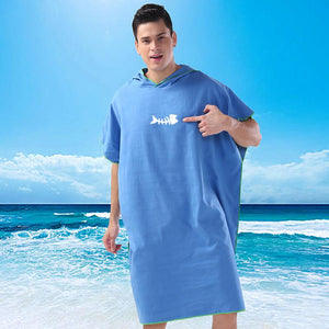 Adult Diving Suit Change Robes Poncho Quick-drying Hooded Towel Quick-drying Hooded