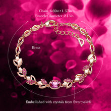 Load image into Gallery viewer, Women Gold Bracelet Jewellery Embellished with crystals from Swarovski
