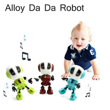 Load image into Gallery viewer, Smart Robot Toy Electronic Action Figure Toy Intelligent Sound Recording Function Alloy Robot LED Lighting Toys