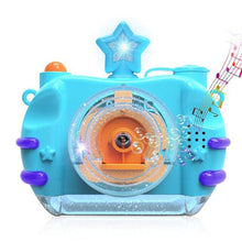 Load image into Gallery viewer, Children Blowing Bubble Toys With Music Light Automatic Bubble Camera Toy